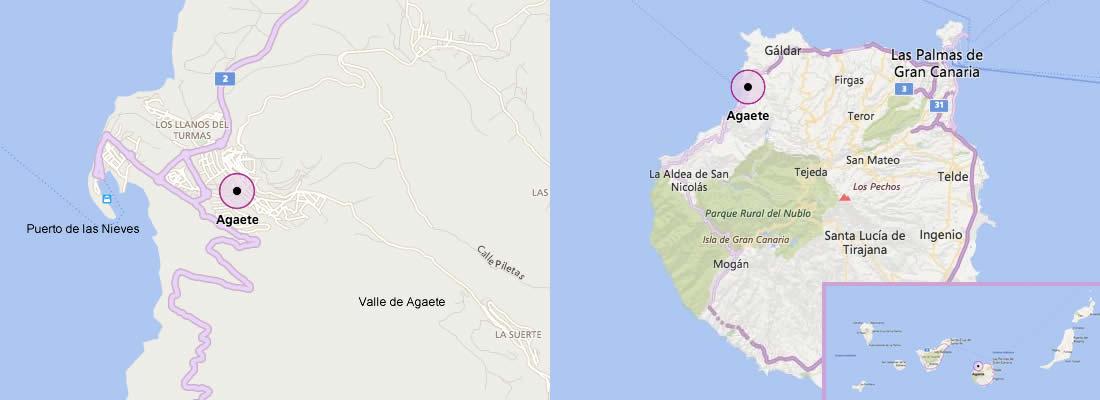 Mapa de Agaete