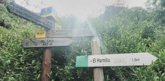 Hiking trail el Sao el Hornillo Agaete Tamadaba